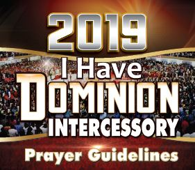 Winners' Intercessory Prayer Guidelines 2019 - 'I Have Dominion'