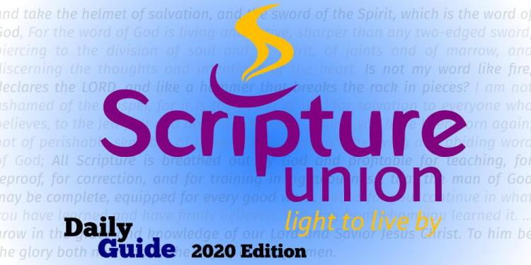 Scripture Union Daily Guide 20th September 2020