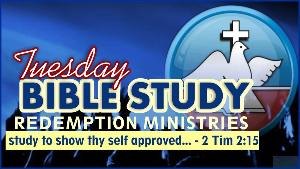 Redemption Ministries Bible Study Outline 29th September 2020 – The Power of Praise & Worship 2