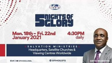 5NOG: Watch 5 Nights of Glory 2021 Day 5 with Pastor David Ibiyeomie