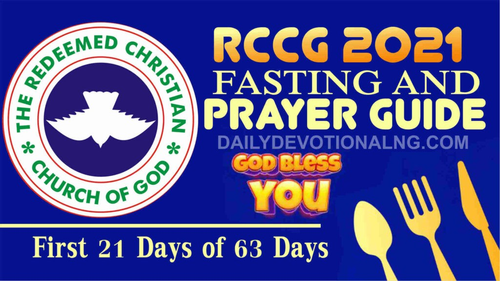 Day 5: RCCG 15th January 2021 Fasting And Prayer Points Guide Complete