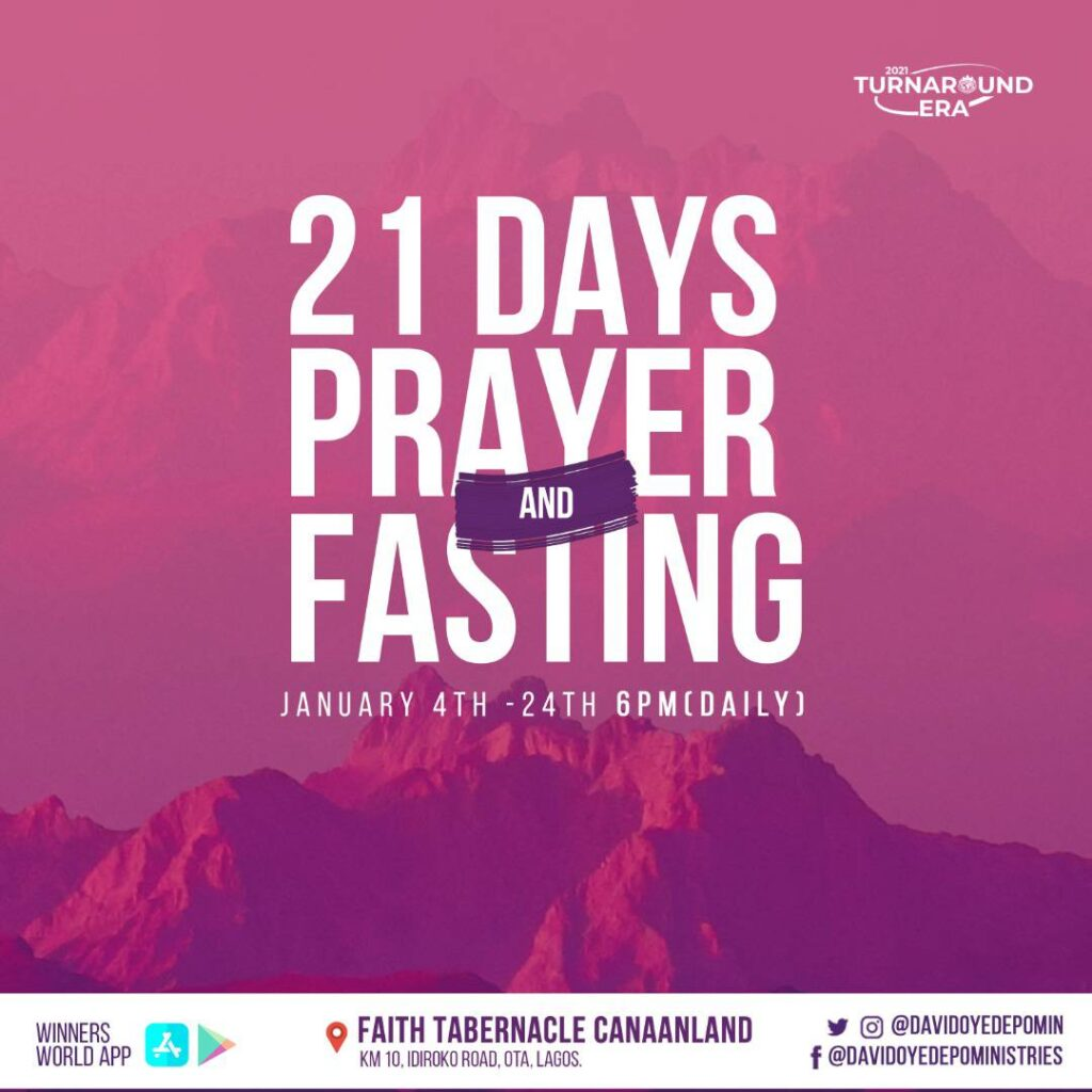 Winners Chapel 2021 Fasting And Prayer Points 12th January 2021 - Day 9