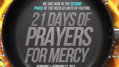 RCCG Sunday 21st February Fasting Prayer Points Day 21 (Phase 2)
