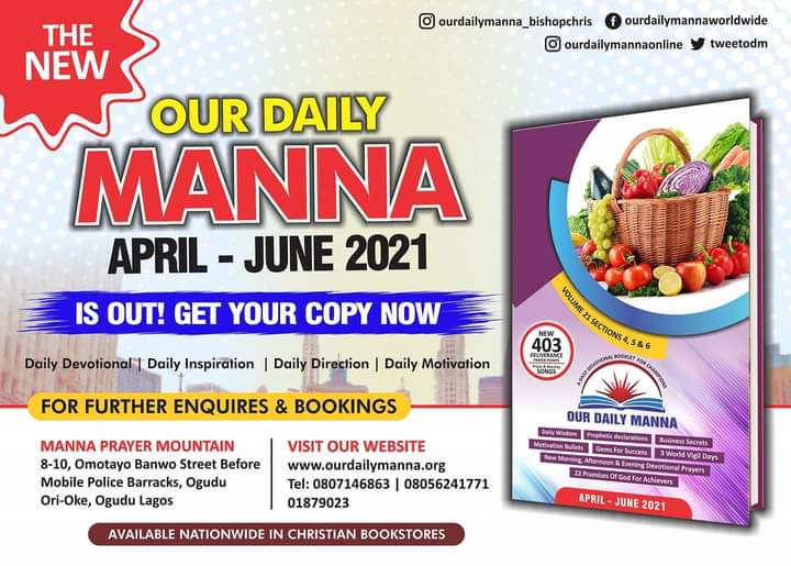 ODM 19th June 2021 Daily Manna