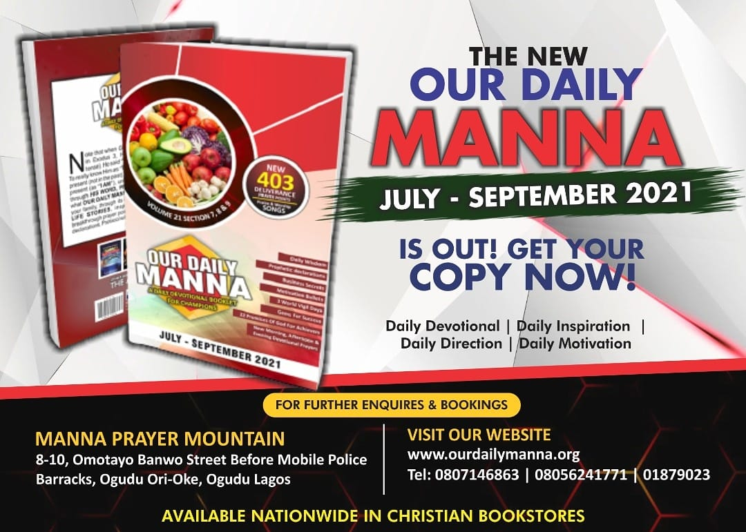 Our Daily Manna 4th August 2021 ODM: The Pilot of All Pilots 2
